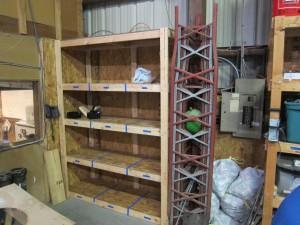 New member storage shelves.