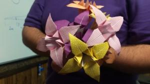 Origami Iris Flowers